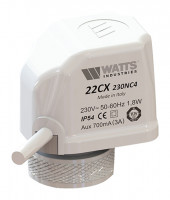 Головка термоэлектрическая (сервопривод) Watts 22CX230NA2 30х1,5 230В. Норм. открытый 10029674